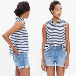 NWOT Madewell Moment Shirt in Stripes Button Down